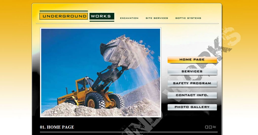 excavation website design