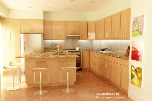 interior 3D real estate Rendering