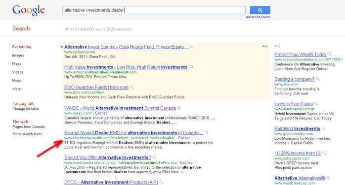 search optimization results