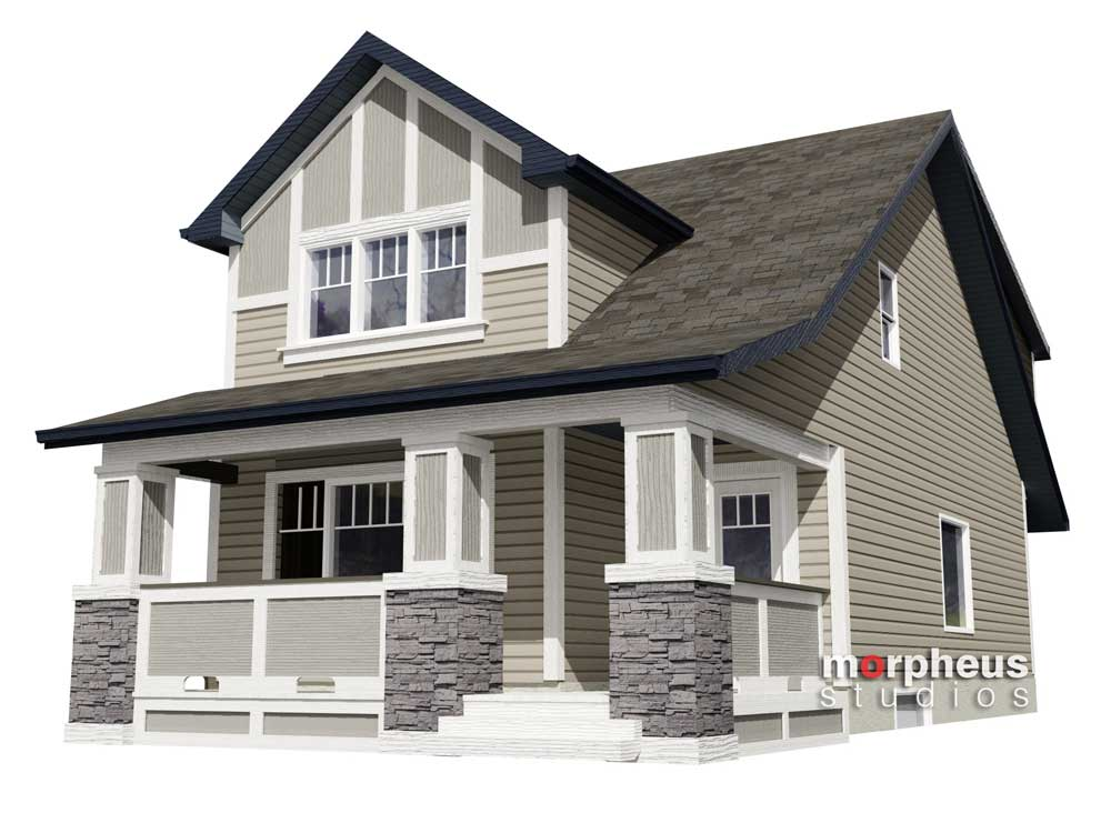 architectural house rendering