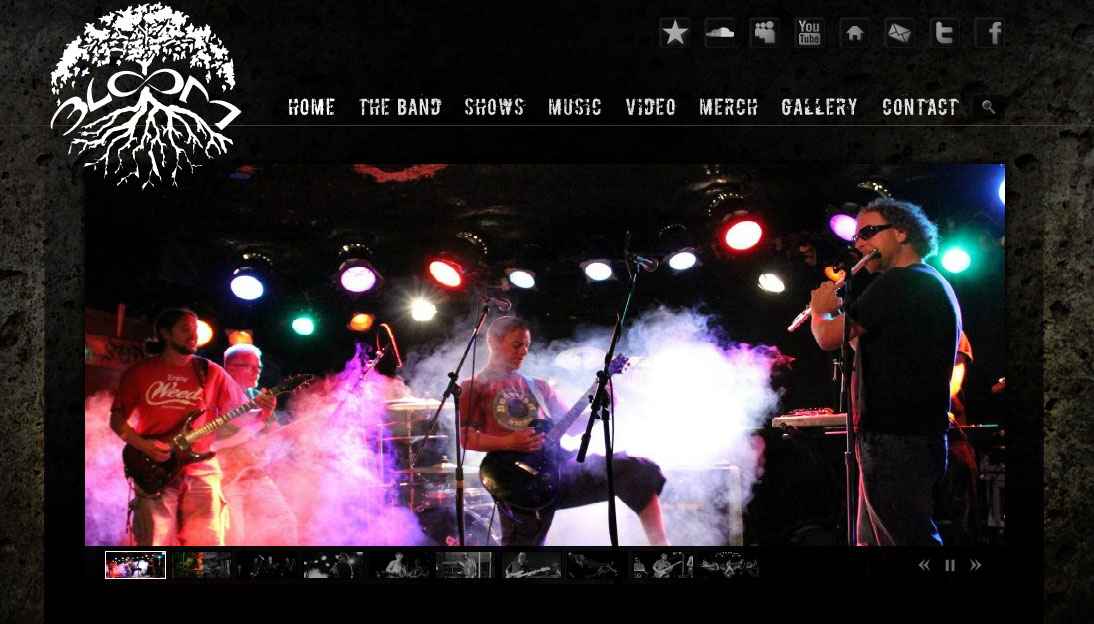 website for bands and entertainers