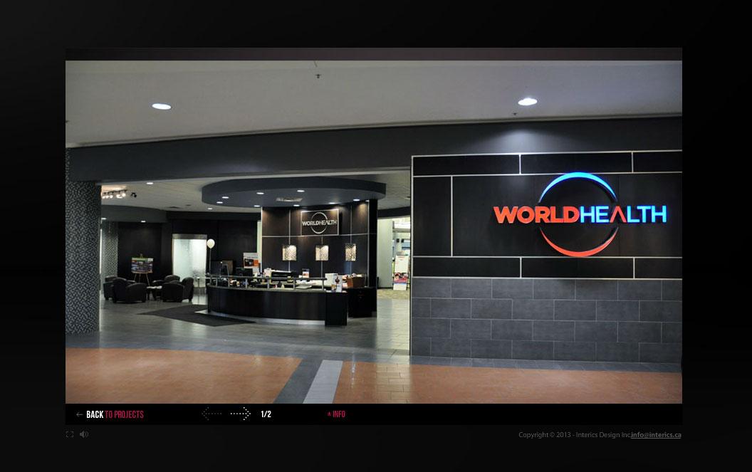 interics world health interior design
