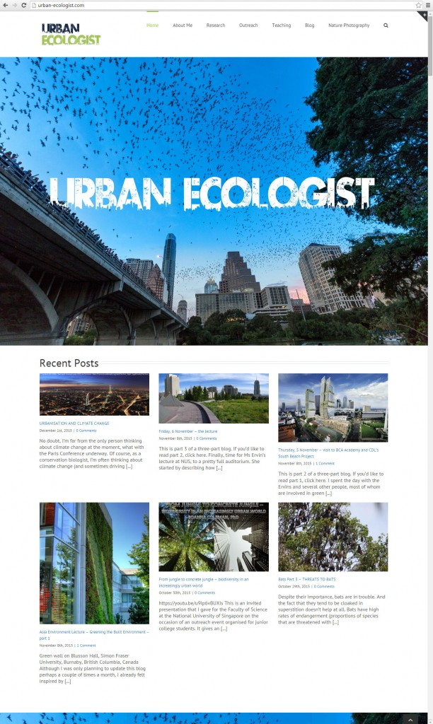 ecology blog homepage features new posts on the front page. Note: this website, like all of our websites, will resize to tablet and mobile formats.